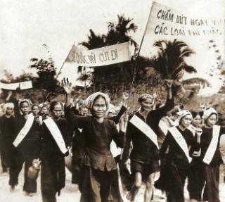 Manifestação em CuChi, Vietname (1965)