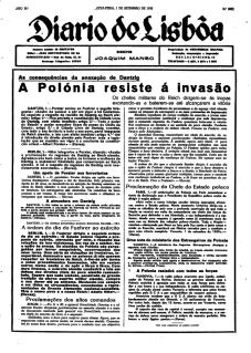 Diário de Lisboa, 1 set 1939